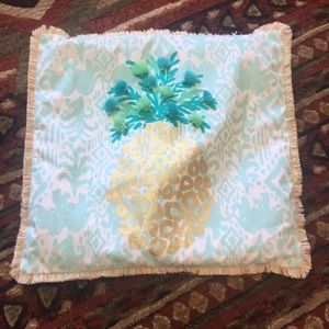 Lilly p Pineapple pillow cover